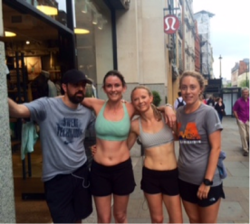 My new lululemon run club buddies after our jaunt around London