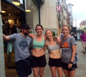 My new lululemon run club buddies after our jaunt around London