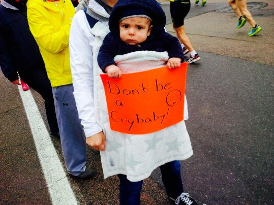 My nephew Miles encouraging the runners